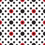 Reticolo geometrico astratto Una priorità bassa senza giunte Struttura nera, rossa e bianca Immagini Stock Libere da Diritti