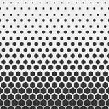 Reticolo geometrico Modello esagonale della stampa di progettazione di modo dei pantaloni a vita bassa Favi neri su un fondo legg illustrazione di stock