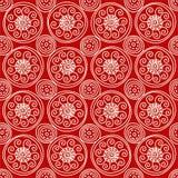 Reticolo geometrico rosso Fotografie Stock Libere da Diritti