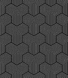 Reticolo geometrico senza giunte di arte op Immagini Stock Libere da Diritti