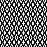 Reticolo geometrico senza giunte di vettore Struttura dei rombi Fondo in bianco e nero Progettazione a forma di diamante monocrom illustrazione vettoriale