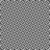 Reticolo geometrico senza giunte di vettore Struttura delle forme del triangolo Fondo in bianco e nero Progettazione monocromatic illustrazione vettoriale