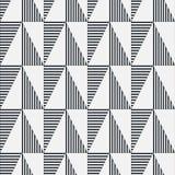 Reticolo geometrico senza giunte Stampa semplice geometrica Vettore che ripete struttura Immagini Stock Libere da Diritti