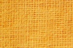 Reticolo giallo del tessuto Fotografia Stock