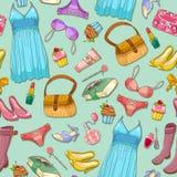 Reticolo Girlish royalty illustrazione gratis