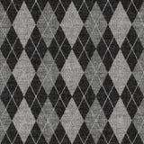 Reticolo grigio del knitwork del tartan Fotografia Stock Libera da Diritti