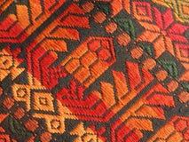 Reticolo homespun Mayan della tessile Fotografia Stock