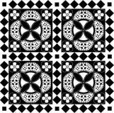 Reticolo infinito in bianco e nero Fotografie Stock