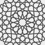 Reticolo islamico Modello geometrico arabo senza cuciture, ornamento orientale, ornamento indiano, motivo persiano, 3D Struttura  illustrazione vettoriale