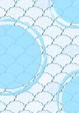 Reticolo lanuginoso blu-chiaro e bianco senza giunte della nube royalty illustrazione gratis