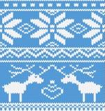 Reticolo lavorato a maglia con deer.jpg Fotografia Stock