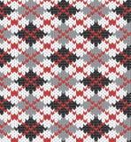 Reticolo lavorato a maglia con il rhombus Fotografie Stock