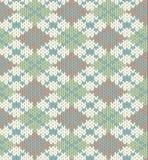Reticolo lavorato a maglia con il rhombus Immagini Stock