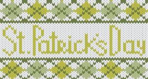 Reticolo lavorato a maglia con il rhombus per il giorno della st Patricks Fotografie Stock Libere da Diritti