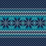 Reticolo lavorato a maglia senza giunte Progettazione festiva ed alla moda del maglione Immagini Stock Libere da Diritti