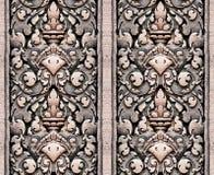 Reticolo mattonella-in grado della parete dell'annata Immagine Stock