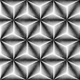 Reticolo monocromatico senza giunte Piastrellatura geometrica Grungy di forme Immagine Stock