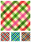 Reticolo multicolore di struttura della tovaglia Fotografia Stock