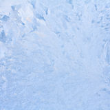Reticolo naturale gelido sulla finestra di inverno Immagini Stock Libere da Diritti