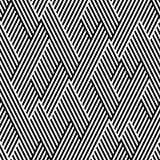 Reticolo nello zigzag con la riga in bianco e nero Fotografia Stock