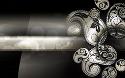 Reticolo nero di Paisley Immagine Stock