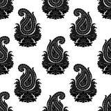 reticolo orientale senza giunte di stile Ornamento di Paisley Immagine Stock