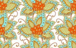 Reticolo persiano floreale Immagini Stock Libere da Diritti