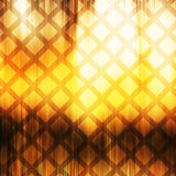 Reticolo quadrato astratto nei colori gialli ed arancio Fotografia Stock