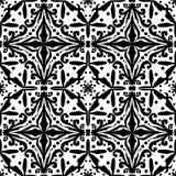 Reticolo quadrato astratto semplice nero illustrazione vettoriale