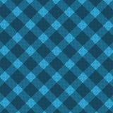 Reticolo realistico blu del tessuto Fotografia Stock Libera da Diritti