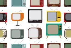 Reticolo retro della TV Fotografia Stock