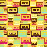 Reticolo retro delle cassette audio di schiocco Fotografia Stock