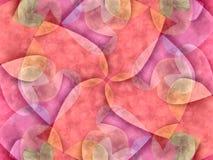 Modello rosa del collage dei cuori Fotografie Stock