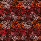 Reticolo rosa del fiore senza cuciture dell'annata. Fotografie Stock