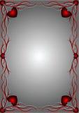 Reticolo rosso con i cuori 3 Fotografia Stock