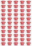 Reticolo rosso dei telefoni Immagini Stock