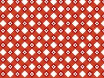 Reticolo rosso del plaid del retro fiore Immagini Stock