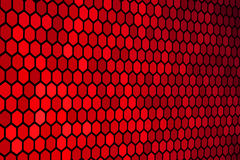 Reticolo rosso di esagono Fotografia Stock Libera da Diritti