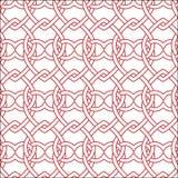 Reticolo rosso di vettore e bianco senza giunte Fotografie Stock Libere da Diritti