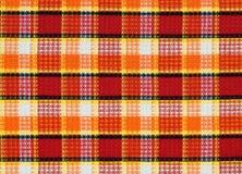 reticolo Rosso-giallo-arancione del tessuto Immagini Stock Libere da Diritti