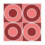 Reticolo rosso senza giunte del cerchio Immagini Stock Libere da Diritti