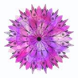Reticolo rotondo ornamentale del merletto illustrazione vettoriale