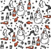 Reticolo russo di inverno illustrazione vettoriale