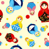 Reticolo russo senza giunte delle bambole Fotografia Stock