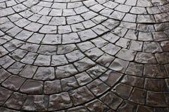 Reticolo rustico scuro della pietra per lastricati del pavimento Fotografia Stock Libera da Diritti