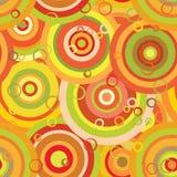 Reticolo senza cuciture: cerchi arancio Fotografia Stock Libera da Diritti