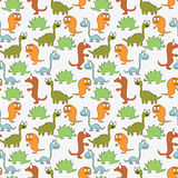 Reticolo senza cuciture con i dinosauri Fotografia Stock