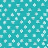 Reticolo senza cuciture con i fiocchi di neve di inverno Fotografia Stock