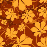 Reticolo senza cuciture con le foglie della castagna di autunno Fotografie Stock