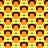 Reticolo senza cuciture con le scimmie Immagine Stock Libera da Diritti